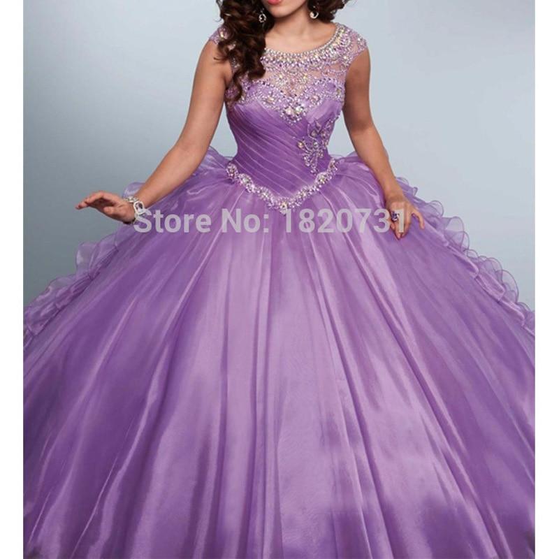 Бальное платье, светло-Фиолетовое, Бальное, 16 платьев в плиссе вышивка бусинами, платье для девочек 15 лет