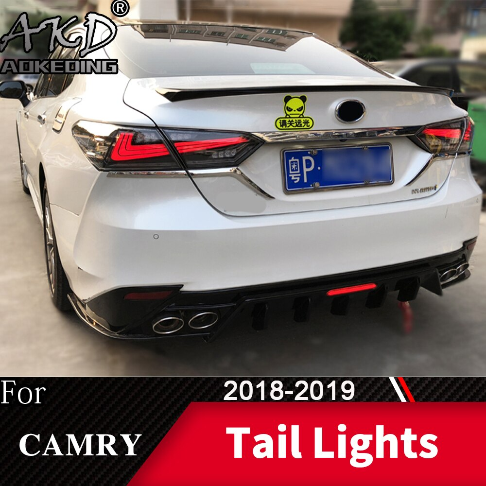 Lâmpada da cauda para o carro toyota camry 2018-2019 novo led luzes traseiras luzes de nevoeiro luzes diurnas drl tuning carros acessórios do carro