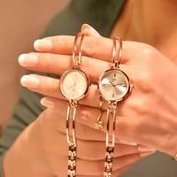 women bracelet watches luxury fashion stainless steel small quartz watch qualities simple ladies wristwatches female chain clock