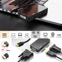 mini displayport dp to hdmi vga dvi 3 in 1 adapter displayport cable converter mini dp cable for surface projector tv monitor pc