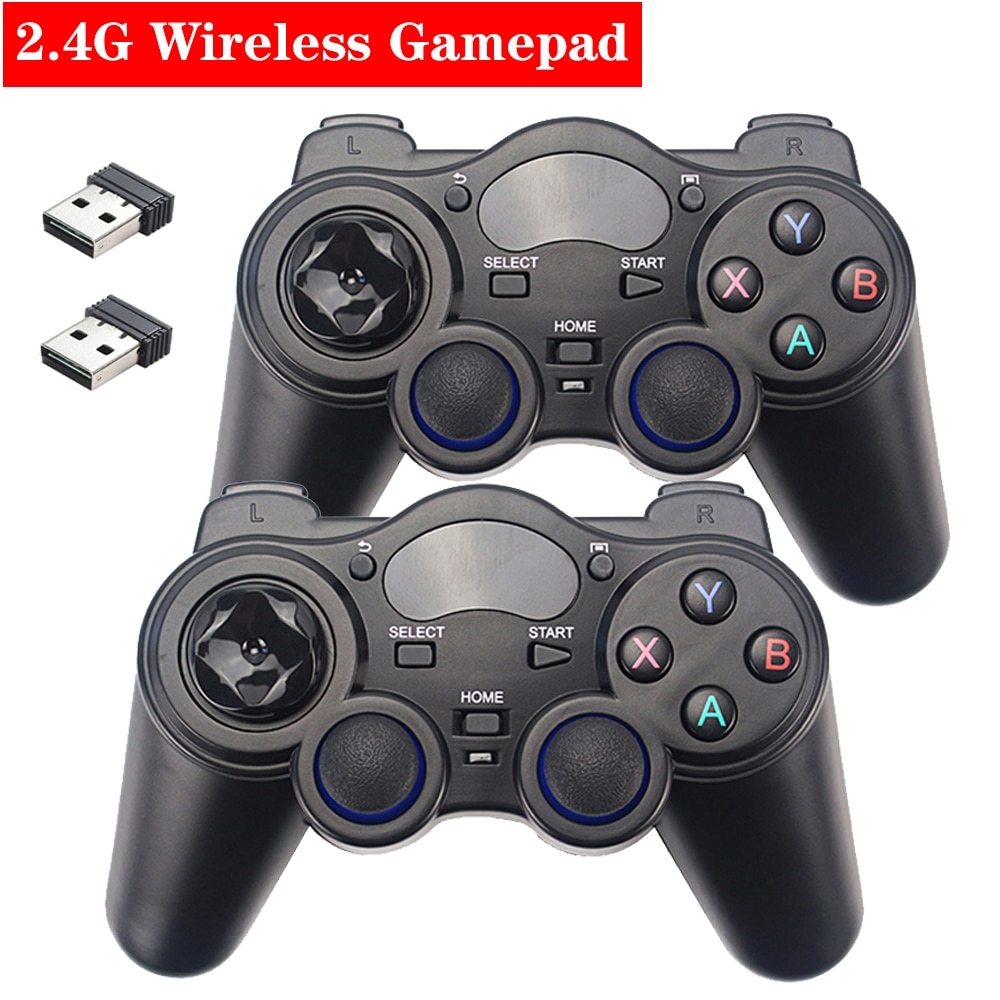 2,4G controlador de juegos inalámbrico Joystick Gamepad con Adaptador convertidor USB para Android TV Box para PC PS3 Raspberry Pi 4B 3B 3B +