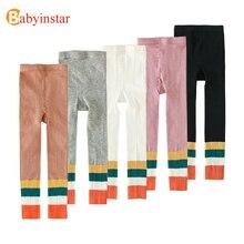Babyinstar, Leggings deportivos para niñas, pantalones con estampado de rayas del arco iris para niñas, ropa infantil, pantalones, ropa para niñas, ropa para bebés
