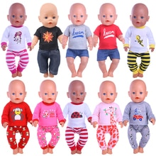 New Doll Pajamas 14 Styles Clothes Accessories Fit 18 Inch American&43 CM Born Baby Generation,Russi