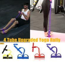 Multifonctionnel 4 Tubes Latex pied élastique traction corde extenseur muscle fitness entraînement pédale équipement de sport bandes de résistance