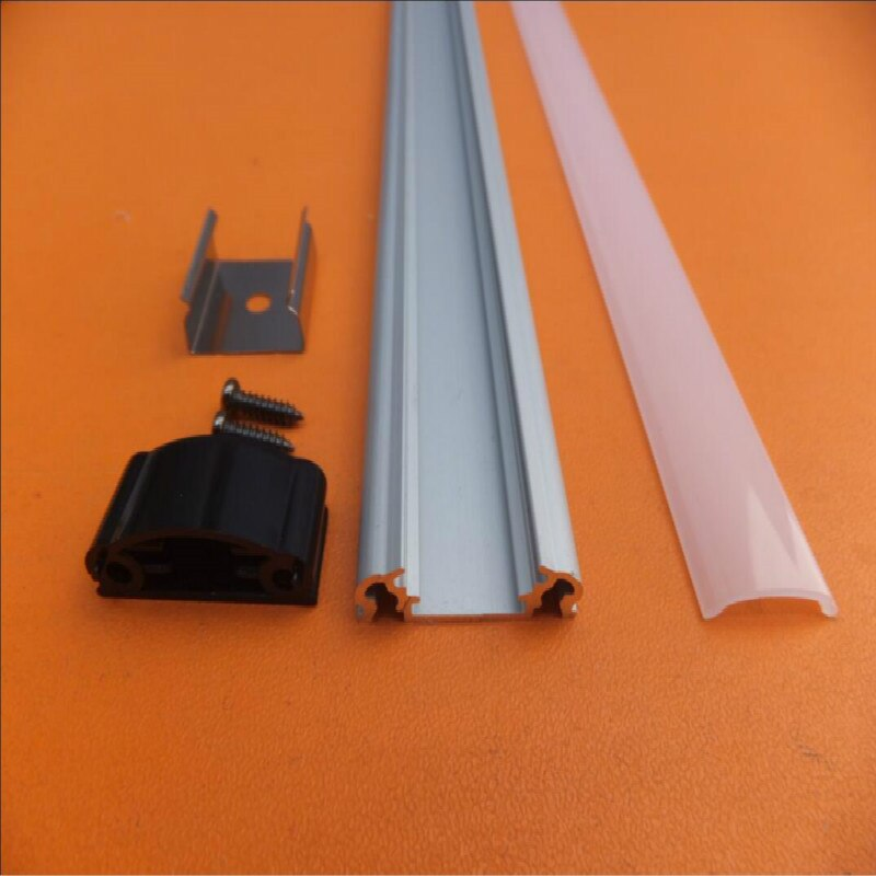 2.5m/pcs  150m/lot high quality professional aluminum profile with cover and accessories for LED strips , led BAR , led linear
