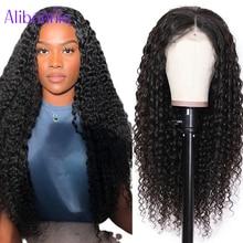 Alibonnie Deep Wave 13x4 13x6 Human Hair Lace Frontal Wigs for Black Women 4X4 Closure Wig 30 Inch B