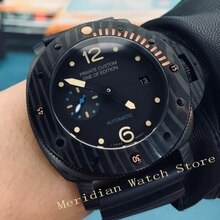 47mm design mechanical Automatic watch men silver pvd case men's watches calendar waterproof luminous AAA luxury male clock