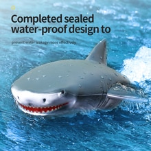 2.4G RC Shark Remote Control Toy Swim Underwater RC Boat 2 In 1 Vehicles Waterproof Electric Racing