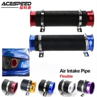 universal car racing cold air intake hose 3 5inch air inlet tube engine ducting feed intake pipe induction kit flexible