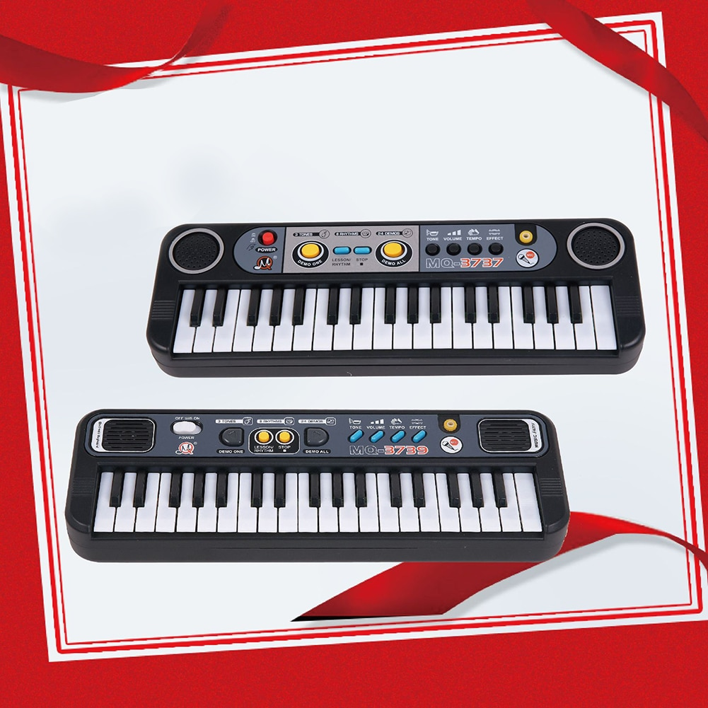 37 Keys Digital Music Electronic Keyboard Key Board Electric Piano Child Musical Instrument Learning Toy with 3 Kinds of Tone