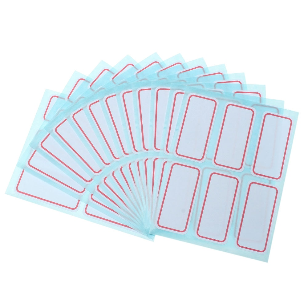72 unids/pack pegatinas autoadhesivas blancas etiquetas de nombre pegatinas de papelería para estudiantes material de oficina escolar 2,5*5,3 cm