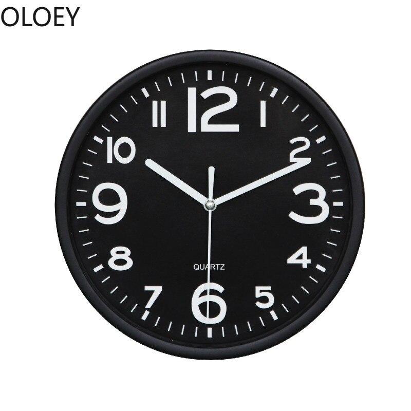 Criativo digital relógios de parede pequena cozinha relógio de parede design moderno sala estar silencioso branco relógio de parede fazenda decoração breve
