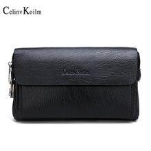 Celinv Koilm marque de luxe jour embrayages sacs hommes sac à main pour téléphone et stylo de haute qualité en cuir renversé portefeuilles sac à main mâle