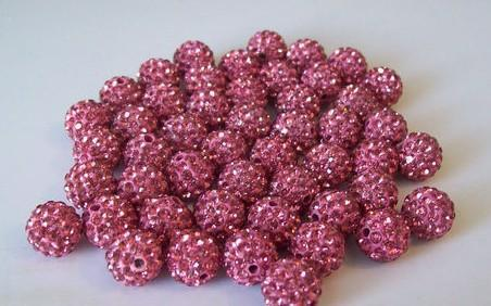Ikj8ng 10mm 100 unids/lote Micro Pave CZ bolas de discoteca de cristal gran stock al por mayor