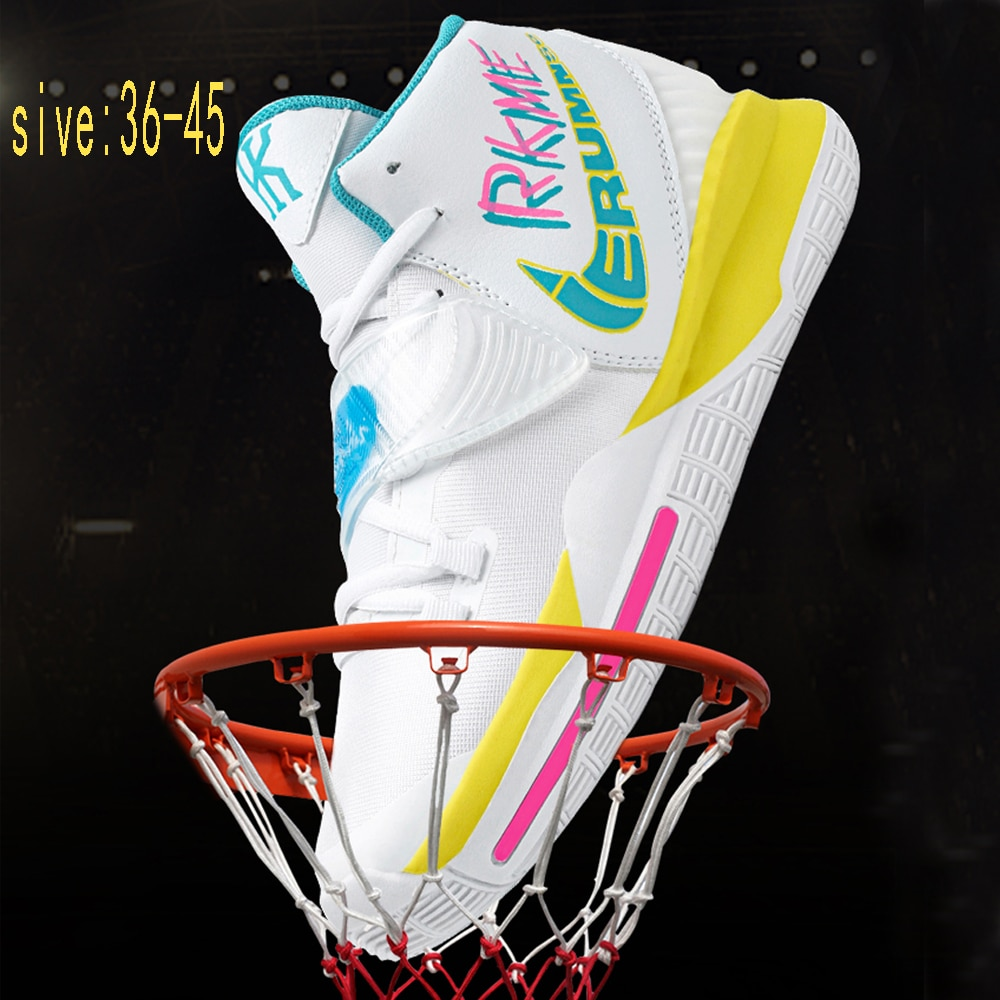 New men's and women's fashion basketball shoes, breathable high-top sports running shoes, outdoor ca