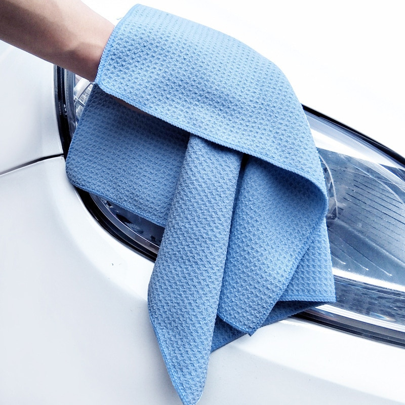 Waffle Towel Car Glasses Cleaning Soft Superfine Fiber High Absorbent Towel Suitable for Auto Household Bathroom Kitchen