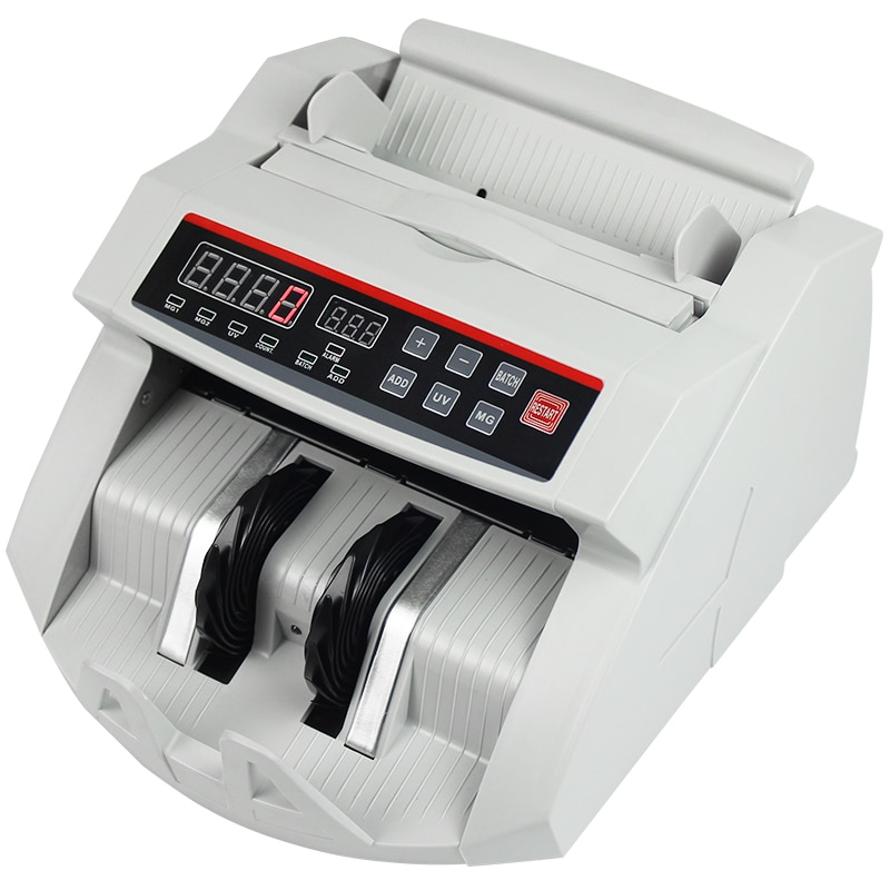 Money Bill Counter 1000 PCS/min 80W Currency Cash Counting Machine UV MG Counterfeit Detection with LED Display