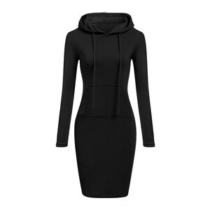 new 2020 woman dress vestidos de mujer robe summer dress dresses classic Solid color Hooded Sweater Big pocket Long sleeve
