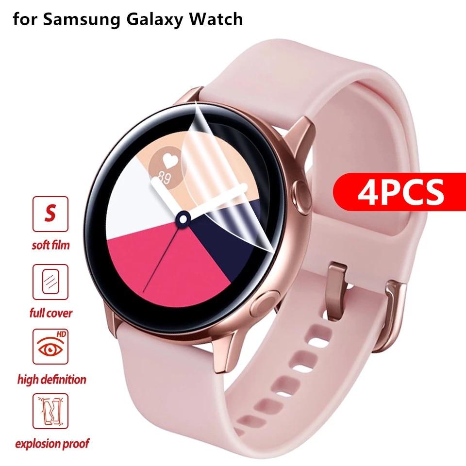Protecteur d'écran pour Samsung Galaxy Watch Active 2, Film souple de Protection à couverture complète, résistant aux rayures, 40mm 44mm