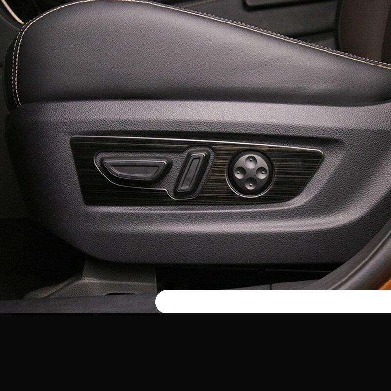Lsrtw2017 Trumpchi için Gs5 araba koltuğu ayar düğmesi paneli düzeltir iç aksesuarları pervaz 2019 2020 paslanmaz çelik