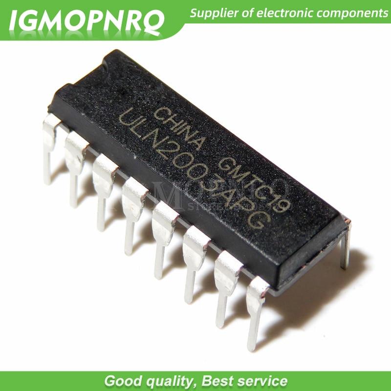 10 Uds ULN2003APG ULN2003A ULN2003 ULN2003AP DIP-16 transistores Darlington 7-circuito de 2,7 kOhm 500mA 50V BR 1K HFE