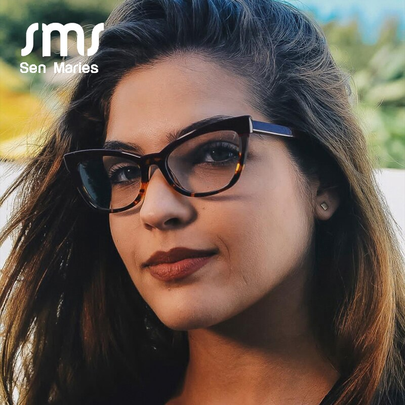 2019 Vintage Cat Eye Glasses Frames Women Brand Designer Comfortable Flat Mirror Lady Optical Eyeglasses Prescription Eyewear