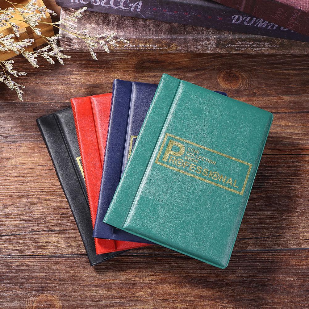 Colección de dinero organizador 120 albúm de monedas álbum portátil Penny conmemorativo dinero almacenamiento libro carpeta Mini bolsa de almacenamiento