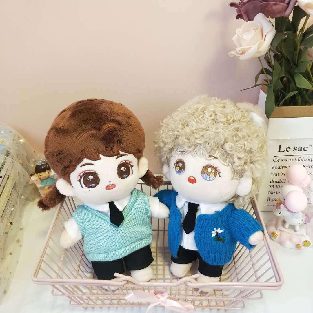Фото - Плюшевая кукла 20 см, Одежда для куклы, кардиган, рубашка, галстук, штаны, аксессуары для кукол, куклы Kpop, куклы EXO Idol куклы и одежда для кукол disney princess кукла белоснежка