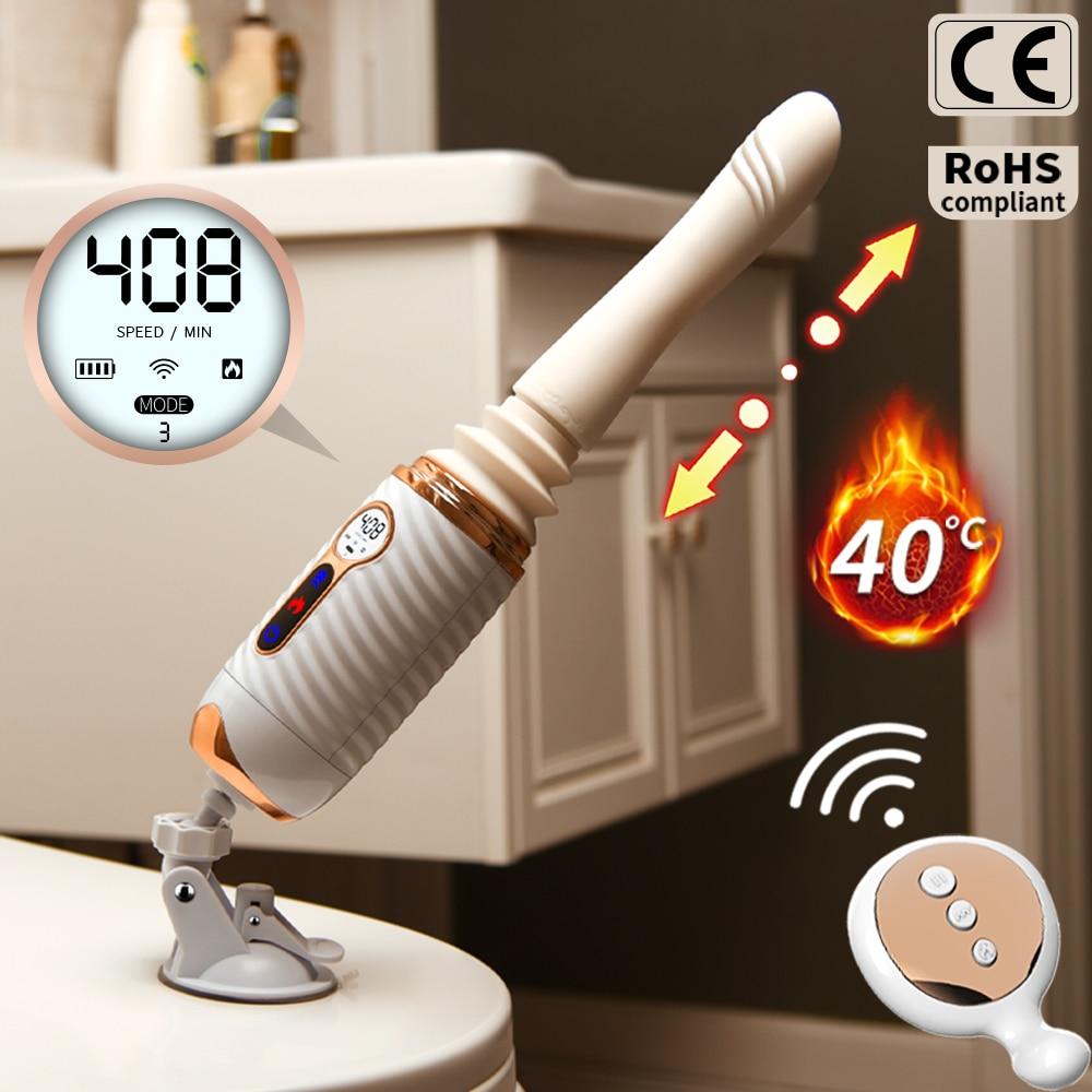 Automatic Thrusting Sex Machines For Women Adults Toy Female Hands-Free Masturbator Wireless Control Quick Dildo Vibrator Gun