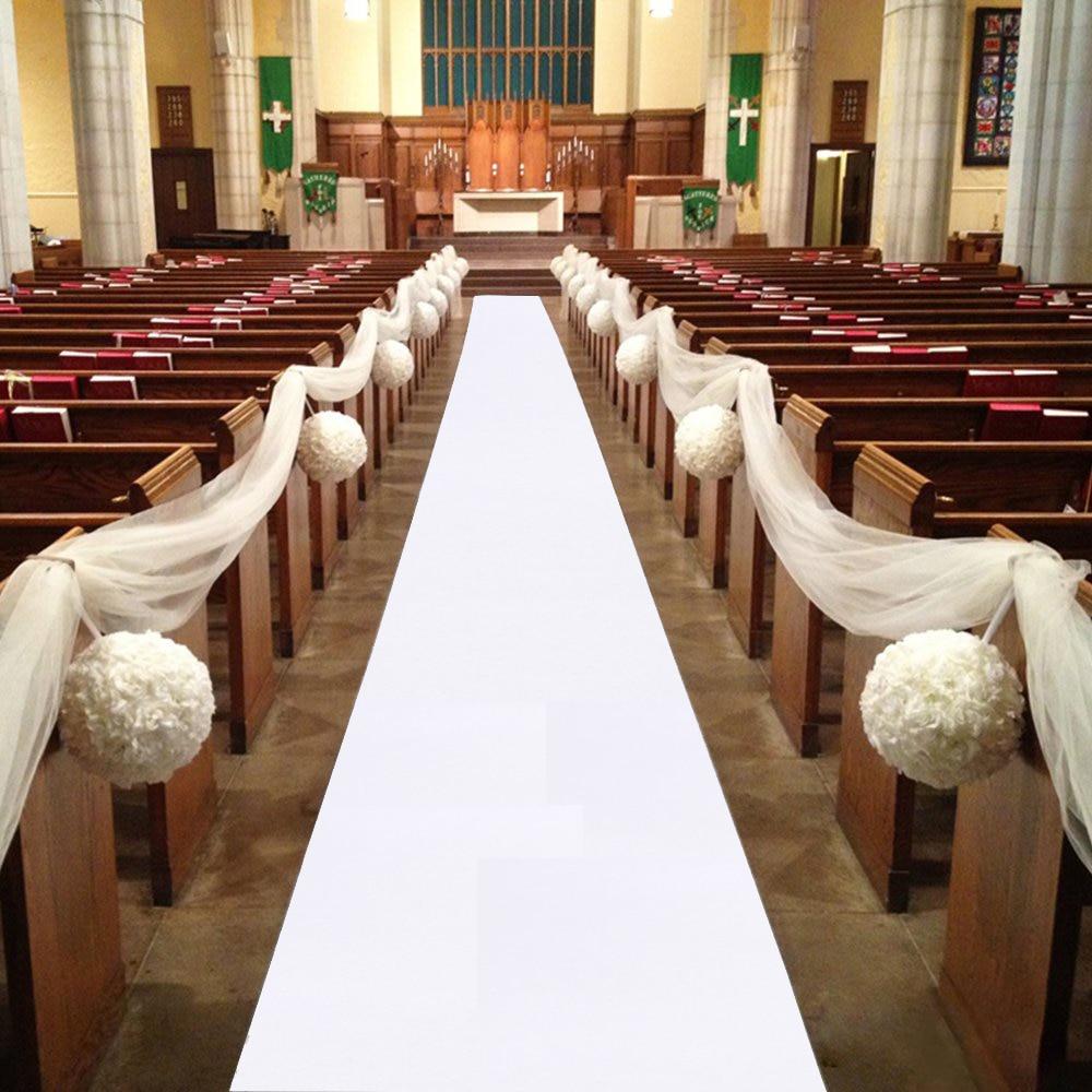 Tapis blanc pour allée de mariage, épaisseur: 0.8mm, 3M, 5M, 10M