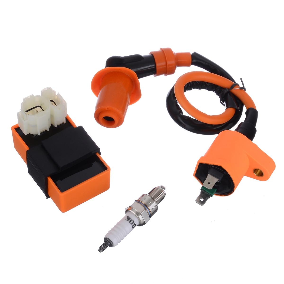 1set Motorbike Ingition Racing CDI + Spark Plug + Ignition Coil Kits For GY6 50/125/150CC 4-stroke ATV Scooter Dirt Bike Go Kart