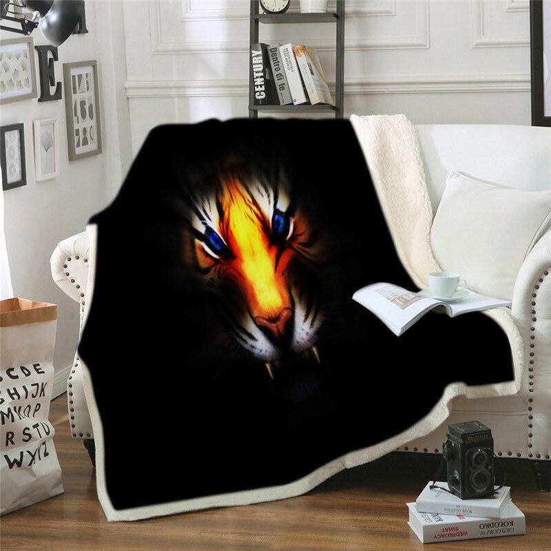 بطانية القط الأكثر عصرية يلقي على السرير شيربا بطانية أفخم الحيوان ثلاثية الأبعاد الحيوانات الأليفة قطعة واحدة المفرش بطانية مطبوعة