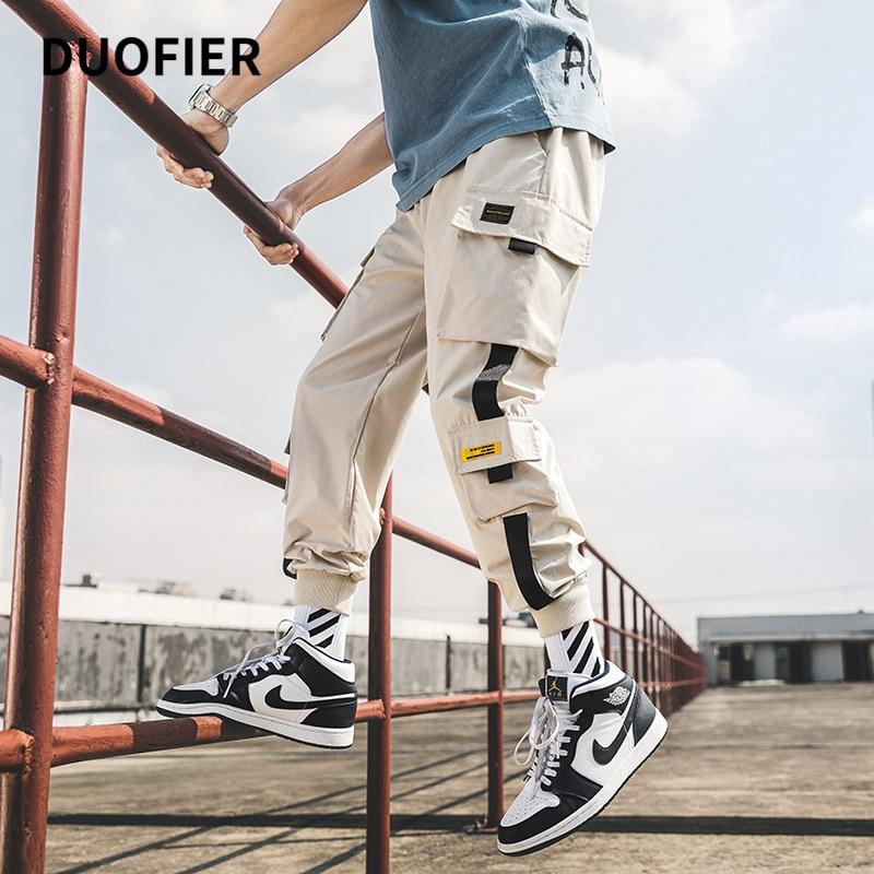 2021 Men's Cargo Pants Streetwear Oversized Man Harem Pants Multi-Pocket Ribbons Fashion Sweatpants Casual Male Pants New 5XL