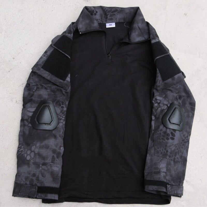 Camiseta táctica del ejército de manga larga de Typhon Camo G2 de manga larga de secado rápido de los hombres camuflaje Airsoft combate militar senderismo caza camiseta