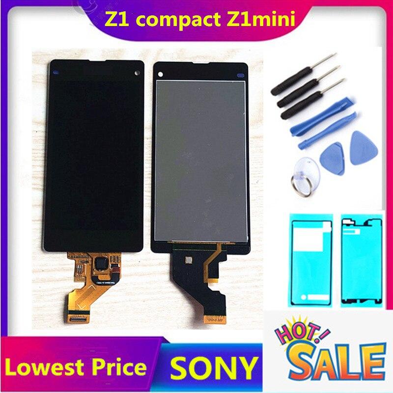 Pantalla táctil Original de 4,3 pulgadas para Sony Xperia Z1 Compact D5503 M51w, pantalla LCD de 4,3 pulgadas, Sensor digitalizador, montaje de panel de vidrio