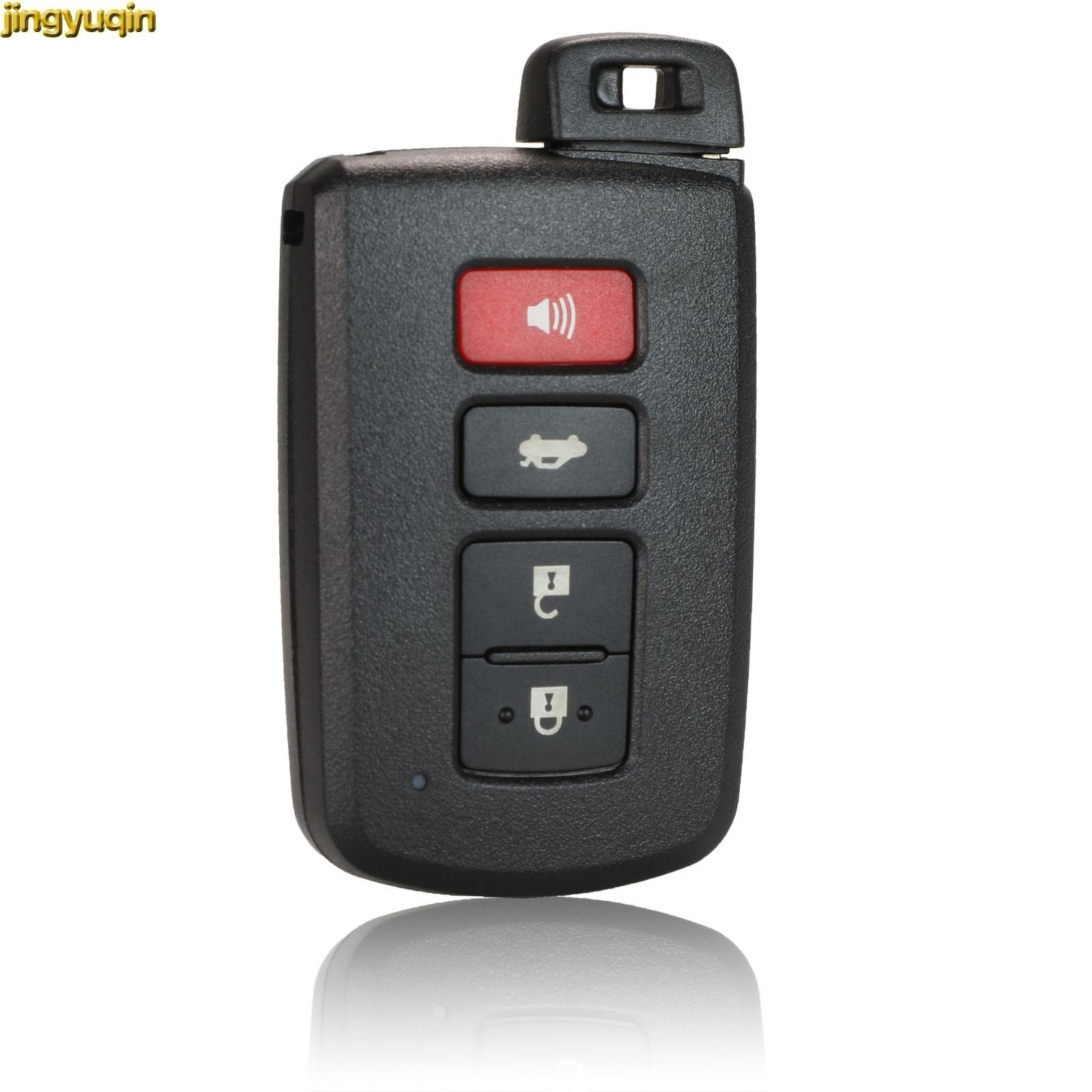 Jinyuqin remoto clave Shell para Toyota Camry Avalon RAV4 Corolla Highlander 4 botones llave inteligente Fob vivienda hoja sin cortar