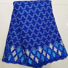 Latest Beaded African Lace Fabric 2019 High Quality France Nigerian Lace Fabric Materials For Women