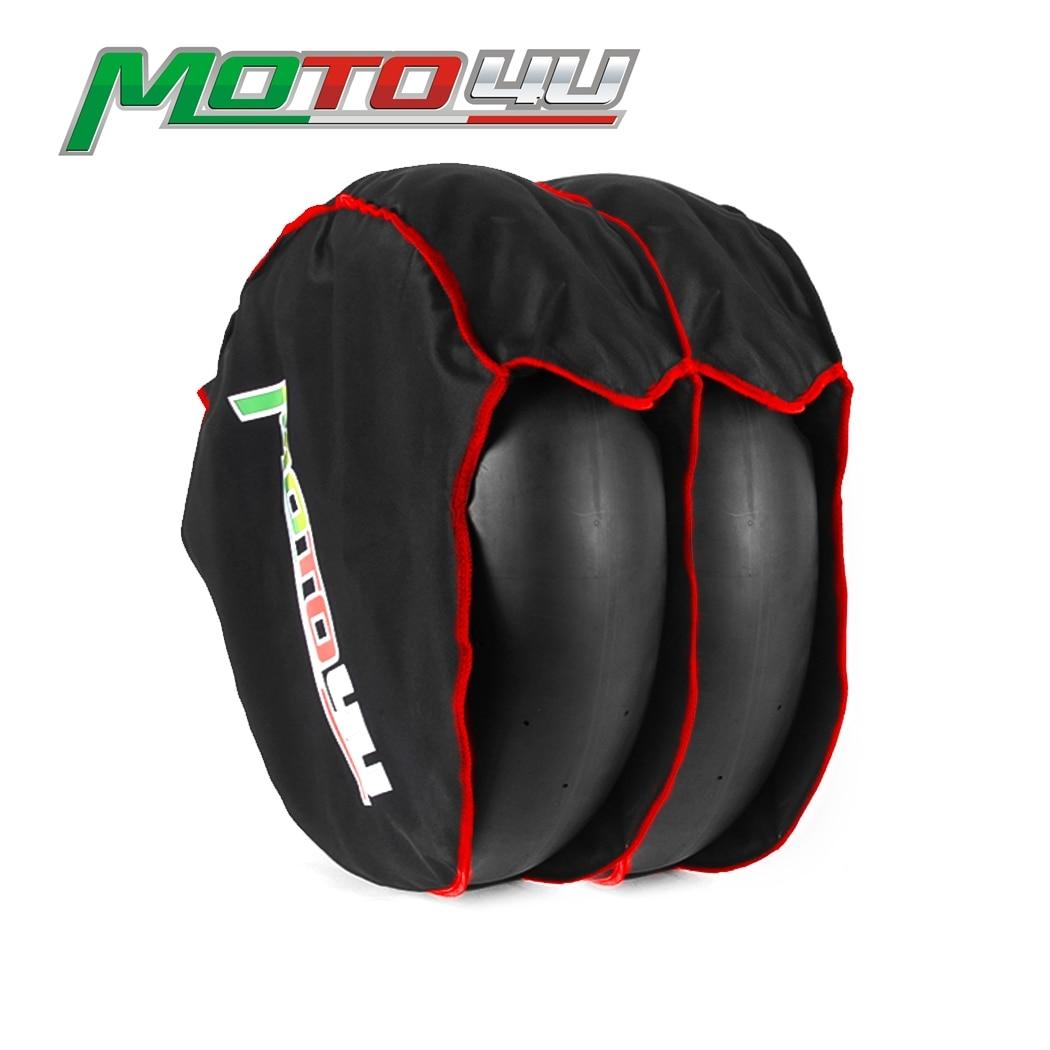 MOTO4U دراجة نارية الأمامي والخلفي الإطارات تدفئة الإطارات يندبروف غطاء الإطار مصدات الرياح إضافة القطن رشاقته