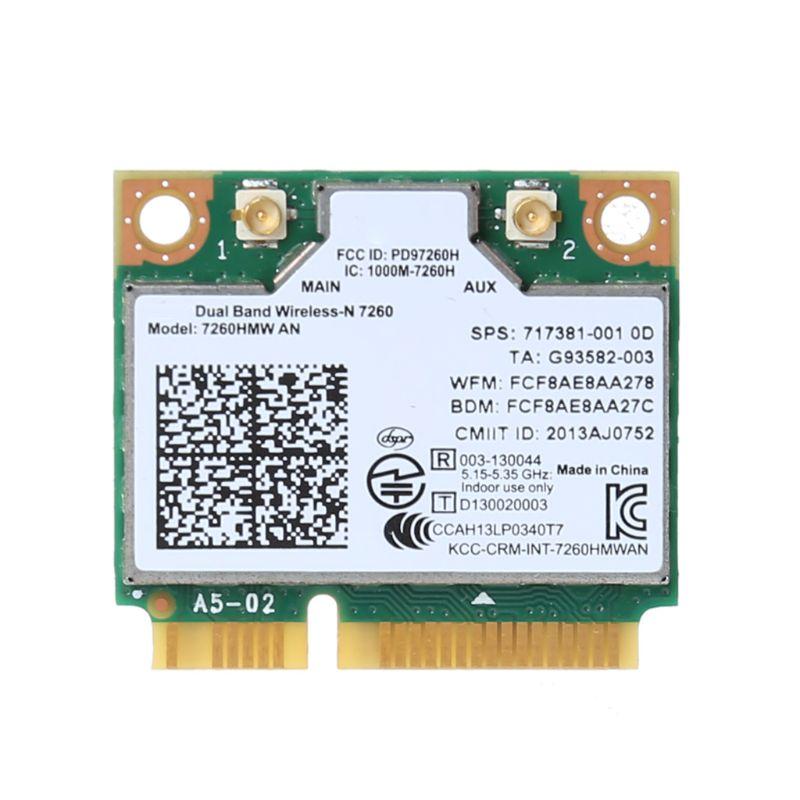 Wifi inalámbrico tarjeta para Intel AC7260 7260HMW AC Mini PCI-E 2,4G/5 Ghz Wlan adaptador