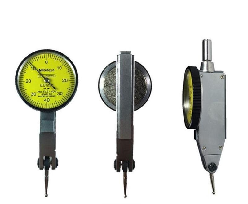 Mitutoyo ЧПУ циферблат индикатор 0-0,8 мм 0,01 мм Уровнемер шкала Точность метрический ласточкин хвост рельсы индикатор измерительный инструмент