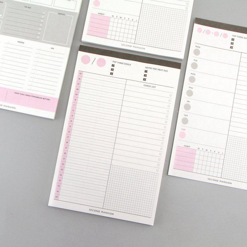 60 листов креативный ежедневный план/Таблица времени/Еженедельный Рабочий стол план книга блокнот для заметок Tearable блокнот расписание бумажные канцелярские принадлежности