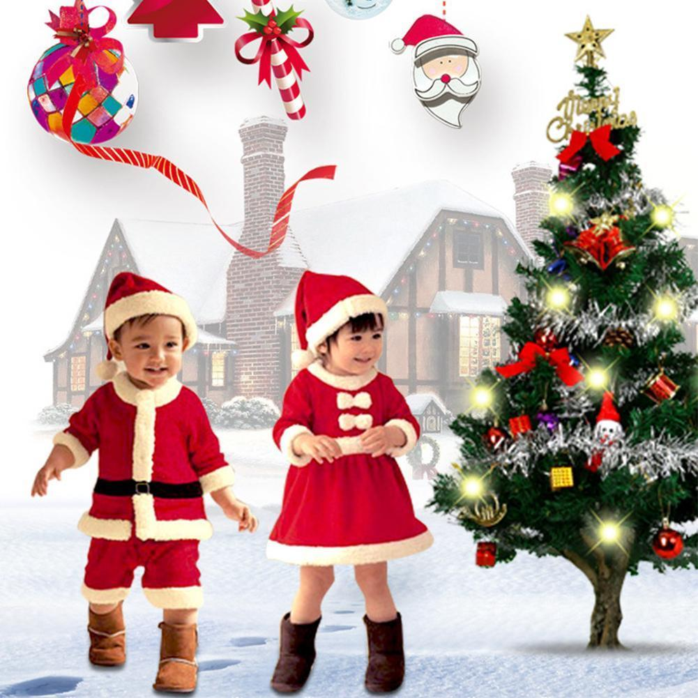 1 Set  Christmas Santa Claus Costume Cosplay Santa Claus Clothes Fancy Dress In Christmas Costume Suit For  Boys And Girls newest christmas costume santa claus costume suit adult couple performance costume set outfit