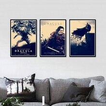 Decoración de carteles de arte para Bar en casa pegatina de lona decorativa para pared de Dracula