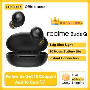 Realme наушники BudsQ наушники-вкладыши TWS с Ture Беспроводной Bluetooth 5,0 под открытым небом до автоматического подключения 20 ч Срок службы Батареи За...