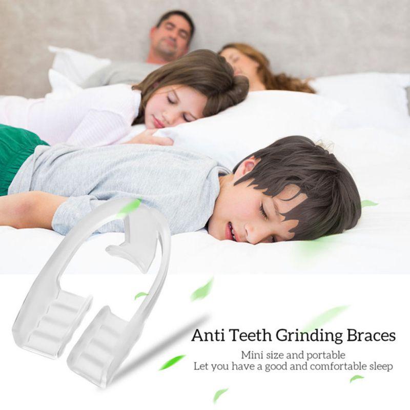 1 Uds., aparatos retenedores de dientes antironquidos para uso en adultos y niños, abrazadera de dientes de Gel de sílice antimolares, herramienta de ayuda para el sueño