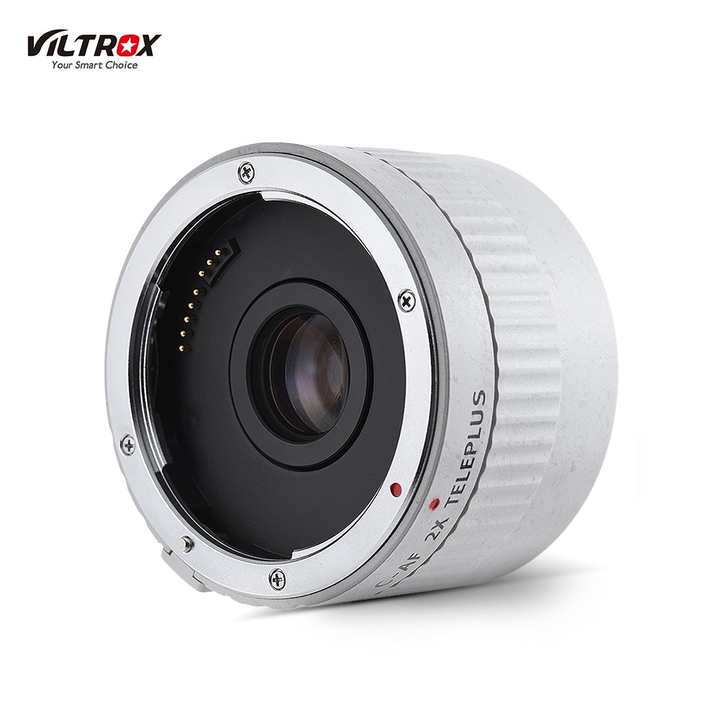 VILTROX C-AF 2XII AF Auto Focus Teleconverter lente extensor de aumento lentes de cámara para Canon EF montura lente DSLR Cámara