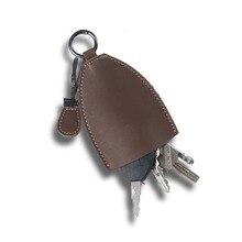 Rétro Vintage Crazy Horse véritable porte-clé en cuir porte-clé couvertures porte-clés sac hommes/femmes porte-clés femme clés organiser