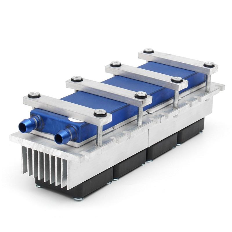 Enfriador de refrigeración de Peltier termoeléctrico de 288W DC12V Semiconductor sistema de refrigeración de aire acondicionado Kit de bricolaje para aire acondicionado