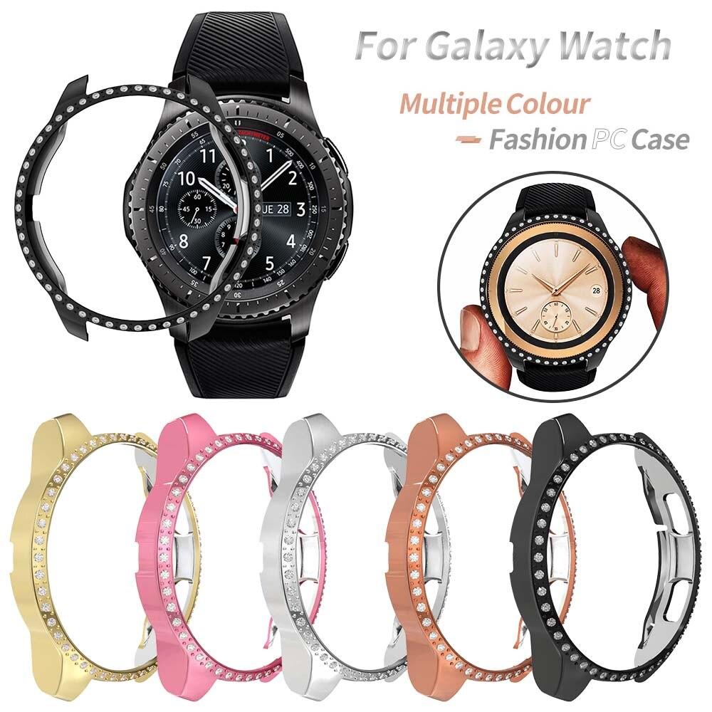 Funda protectora de PC para Samsung Galaxy Watch 3, carcasa de diamante...