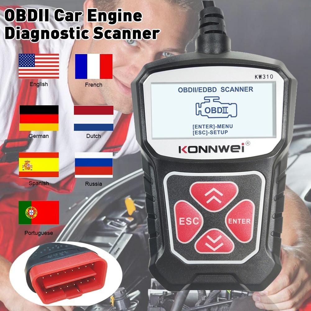 Автомобильный диагностический сканер KW310 OBD2, автомобильный диагностический инструмент для считывания кодов автомобиля, сканер, инструмент...